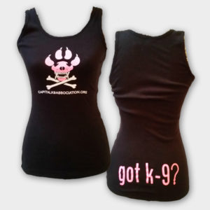 Ladies Skull Paw Ribbed Tank